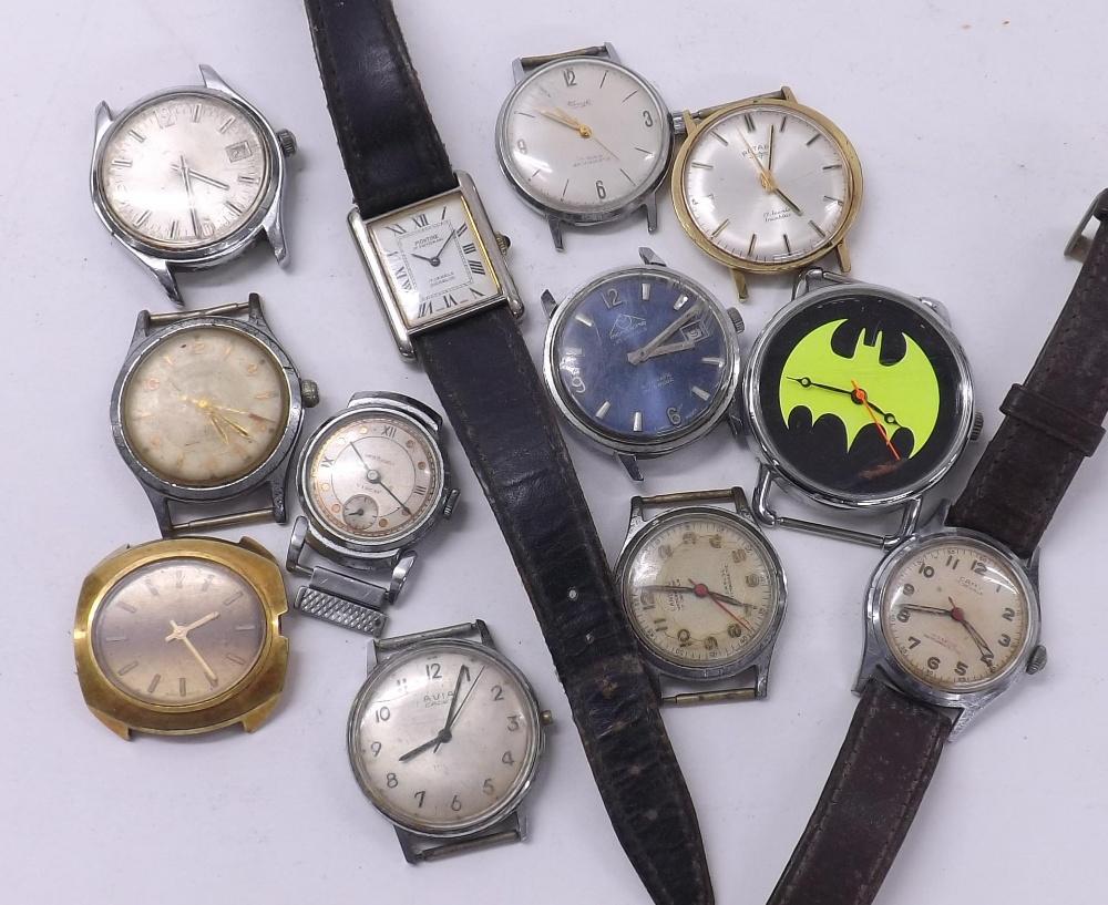 Lot 1924 - Twelve assorted gentleman's wristwatches to include Rotary, Kienzle, Mondaine, Montine, Camy (12) (