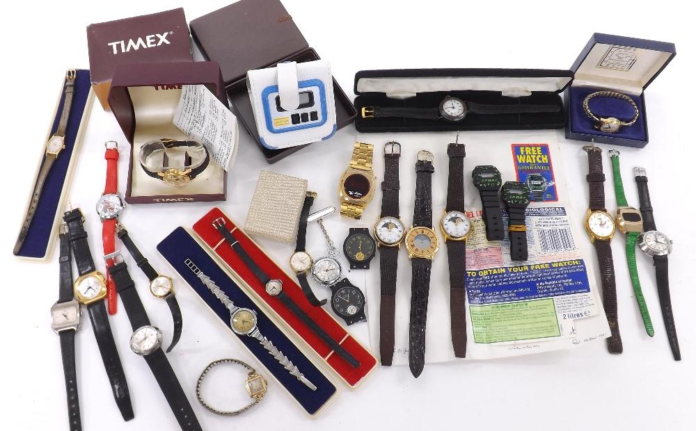 Lot 1905 - Quantity of ladies wristwatches to include Hamilton intra-matic, Excalibur automatic, Seculus