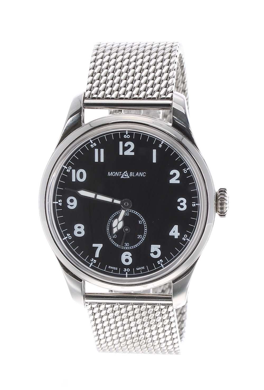 Lot 20 - Montblanc 1858 Military style oversized automatic gentleman's wristwatch, ref. 7389, circa 2019,