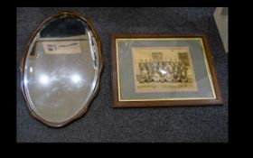 Antique Mirror Oval bevelled glass mirro