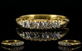Antique Period 18ct Gold Five Stone Diam