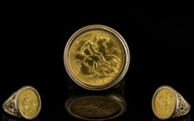 22ct Gold Sovereign - Date 1915, Within