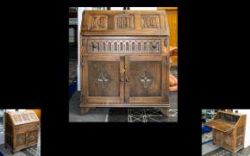 Oak Panelled Bureau of small proportions