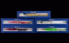 Collection of Swarovski Ballpoint Pens (