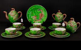 Oriental Dragon Design Tea Service Early
