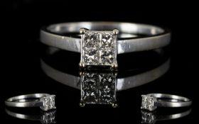 18ct White Gold Contemporary Diamond Set