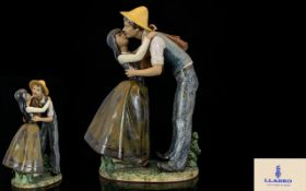 Lladro - Gres Large Hand Painted Scarce
