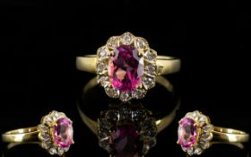 18ct Gold Diamond Dress Ring Set with ce