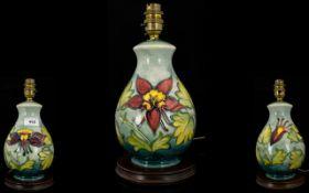 Moorcroft Columbine Pattern Table Lamp B