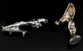 Rolls Royce Interest White metal 'Spirit Of Ecstasy' Mascot height, 4.5 inches.