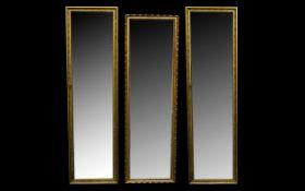 A Matching Pair Of Rectangular Bevelled Glass Mirrors,