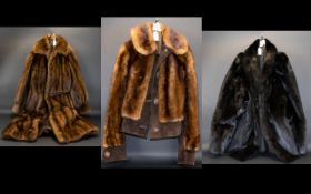 Three Vintage Fur Jackets Each in good condition,