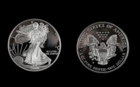 United Sates of America 2000 Silver Proof Eagle One Dollar.