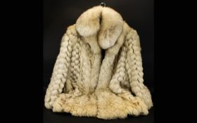 Faux Fur Cream Coat, Artic Fox Style. Fully lined, made by Continental Furs of Blackpool.
