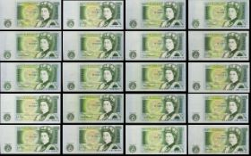 Bank of England Collection of One Pound Banknotes - All In Uncirculated - Mint Condition.