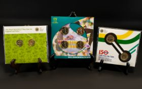 A Small Mixed Collection Of Royal Mint Commemorative Coin Sets To include 2013 UK £1 Two coin set,