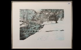 G Guery 'Gibson's Mill' Artist Signed Limited Edition Print Polychrome print housed in contemporary