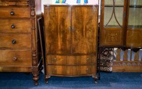 Beithcraft West Scotland Furniture Early-Mid 20th Century Linen Cabinet Serpentine front,