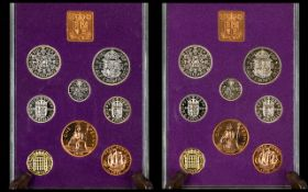 Royal Mint - A Good Collection of Great Britian - Specimen Pre-Decimal 1970 Proof Coin Sets ( 2 ).