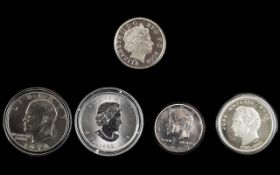 A Collection of Silver Proof Coins ( 5 ) In Total.