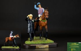 Country Artists Original Sculpture by Rachel D. Hartley ' Best Mate ' The Hero of Cheltenham, Triple