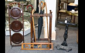 A Small Collection Of Late 19th/Early 20th Century Furniture Items Four pieces in total to include