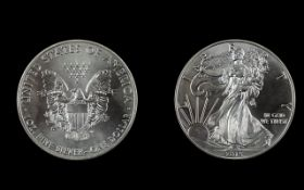 United States of America Silver Proof Eagle One Dollar - Date 2015. Silver Purity .