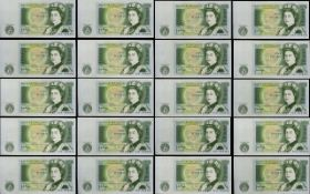 Bank of Scotland Block Run of 42 Consecutive One Pound Banknotes - All In Mint - Uncirculated