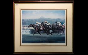 Equestrian Interest Limited Edition Artist Signed Print 'Dancing Brave And Triptych' By Graham Isom