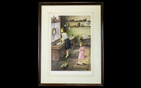 Tom Dodson 1910 - 1991 Ltd and Numbered Edition Colour Print / Lithograph. Titled ' The Spot '