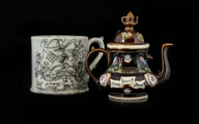 Barge Ware Miniature Teapot Brown treacl
