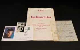 Elvis Presley Interest A Collection Of E