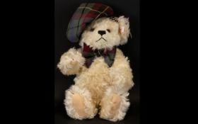 Steiff - White Mohair Scottish Teddy Bea