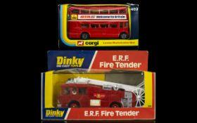 Dinky Diecast Scale Model E.R.F Fire Ten