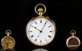 9ct Gold - Swiss Made Keyless Open Faced