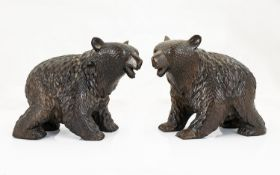A Pair Of Black Forest Style Carved Bear