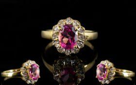 18ct Gold Diamond Dress Ring Set with ce