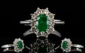 Ladies - Nice Quality Diamond and Emeral