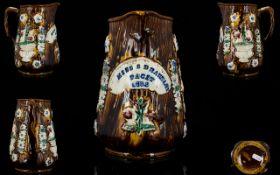 Measham Bargeware Treacle Glaze Jug with