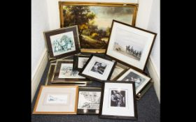 A Quantity Of Framed Prints Seventeen in