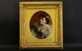 Late 19th/ Early 20th Century Original Oil On Canvas Portrait Unsigned and re-lined depicting