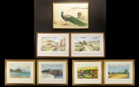 Anne Duchess of Norfolk (1927 - 2013) Four Limited Edition Artist Signed Prints Each framed and