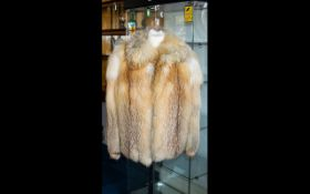 A Vintage Red Fox Jacket Ladies hip length jacket with small shawl collar side seam pockets,
