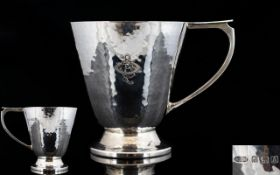 Arts and Crafts Period Wonderful - Planished / Hammered Silver Cup by Albert E. Jones.