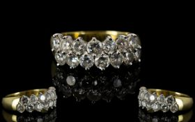 Ladies - Excellent Quality 18ct Gold Channel Set Diamond Ring, Fully Hallmarked for 18ct.