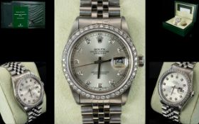 Rolex Automatic Datejust Gents Stainless Steel Wristwatch,