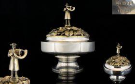 Superb Quality Gilt Silver 'Aurum Ripon' Limited Edition Centrepiece Designed By Hector Miller & Tim