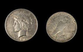 American Liberty Peace Silver One Dollar - Date 1923. Mint Philadelphia. Please See Photo.