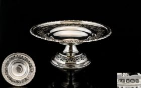 Art Deco Period Solid Silver - Nice Quality Silver Pedestal Dish of Small Proportions.