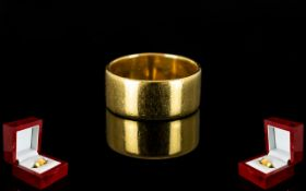 18ct Gold Wedding Band. Full Hallmark for 18ct Gold. Ring Size K - L. 7 grams.